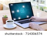 privacy access login... | Shutterstock . vector #714306574