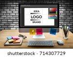 design creative creativity work ...   Shutterstock . vector #714307729