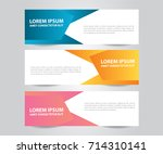 abstract banner template.... | Shutterstock .eps vector #714310141