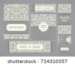 set of ornate vector cards.... | Shutterstock .eps vector #714310357