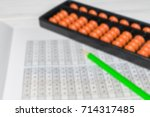 mental arithmetic blurred... | Shutterstock . vector #714317485