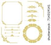set of vintage elements. frames ... | Shutterstock . vector #714319141