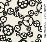 seamless pattern with mechanic... | Shutterstock .eps vector #714320509