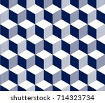 abstract 3d striped cubes... | Shutterstock .eps vector #714323734