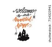 "vector lettering ""welcome to...   Shutterstock .eps vector #714323941"