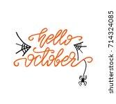 "vector lettering ""hello ...   Shutterstock .eps vector #714324085"