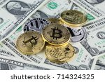 physical version of bitcoin and ... | Shutterstock . vector #714324325