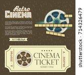 design vintage cinema tickets.... | Shutterstock .eps vector #714326479