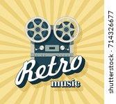 retro music. vector... | Shutterstock .eps vector #714326677