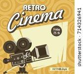 retro cinema. vintage film... | Shutterstock .eps vector #714326941