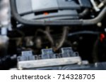 the car engine blurred abstract ... | Shutterstock . vector #714328705
