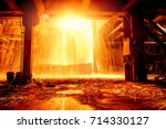 steelmaking scenario | Shutterstock . vector #714330127