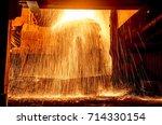 steelmaking scenario | Shutterstock . vector #714330154