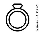 diamond ring icon   Shutterstock .eps vector #714336001