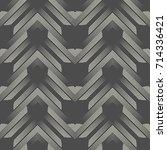 seamless zigzag pattern.... | Shutterstock .eps vector #714336421