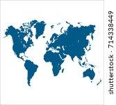 world map. | Shutterstock .eps vector #714338449