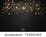 christmas glow light effect.... | Shutterstock .eps vector #714341425
