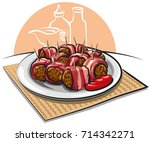 illustration of wrapped... | Shutterstock . vector #714342271