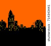 comics city skyline vector | Shutterstock .eps vector #714343441