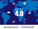 industry 4.0 and internet of... | Shutterstock .eps vector #714345109