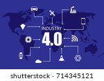 industry 4.0 and internet of... | Shutterstock .eps vector #714345121