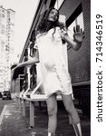 streetstyle  fashion.... | Shutterstock . vector #714346519