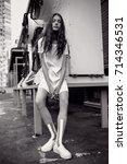 streetstyle  fashion.... | Shutterstock . vector #714346531