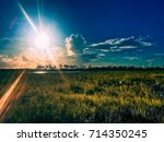beautiful and peaceful sunset...   Shutterstock . vector #714350245