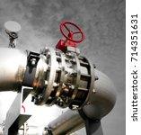 industrial zone  steel... | Shutterstock . vector #714351631