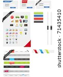 web designers toolkit   web... | Shutterstock .eps vector #71435410