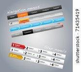 navigation menus and step panels | Shutterstock .eps vector #71435419