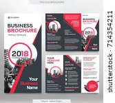business brochure template in... | Shutterstock .eps vector #714354211