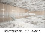 abstract  concrete and wood... | Shutterstock . vector #714356545