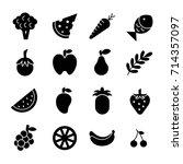 fruit   glyph   vector logo... | Shutterstock .eps vector #714357097