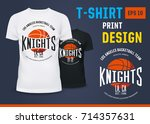 branding of basketball knight... | Shutterstock .eps vector #714357631