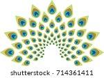 peacock feather abstract vector ...   Shutterstock .eps vector #714361411