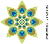 peacock feather abstract vector ...   Shutterstock .eps vector #714361459