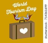 world tourism day vector... | Shutterstock .eps vector #714361699