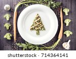 christmas food and drink mock... | Shutterstock . vector #714364141