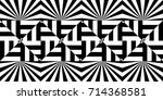 seamless pattern with black... | Shutterstock .eps vector #714368581
