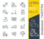lineo editable stroke   sports... | Shutterstock .eps vector #714377701