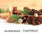 fresh winter home scent.... | Shutterstock . vector #714379015