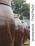 korean clay pots | Shutterstock . vector #714379624