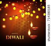 happy diwali  vector... | Shutterstock .eps vector #714380185