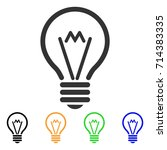 electric bulb icon. vector... | Shutterstock .eps vector #714383335