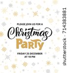 christmas party poster template ... | Shutterstock .eps vector #714383881