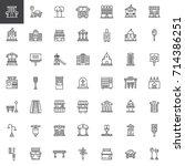 urban infrastructure line icons ...   Shutterstock .eps vector #714386251