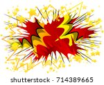 vector illustrated cartoon ... | Shutterstock .eps vector #714389665
