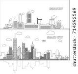smart city   industries | Shutterstock .eps vector #714392569