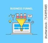 business funnel  conversion ... | Shutterstock .eps vector #714395485
